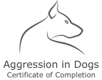 Michael Shikashio's Aggression in Dogs certificate of completion photo.